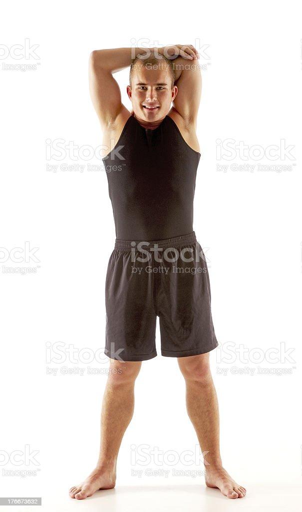 Joven atlética Guy foto de stock libre de derechos