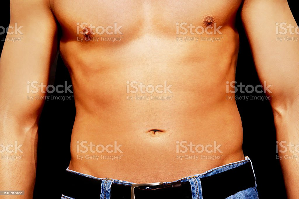 Young Athletic Man With Muscular Torso Stock Photo More Pictures
