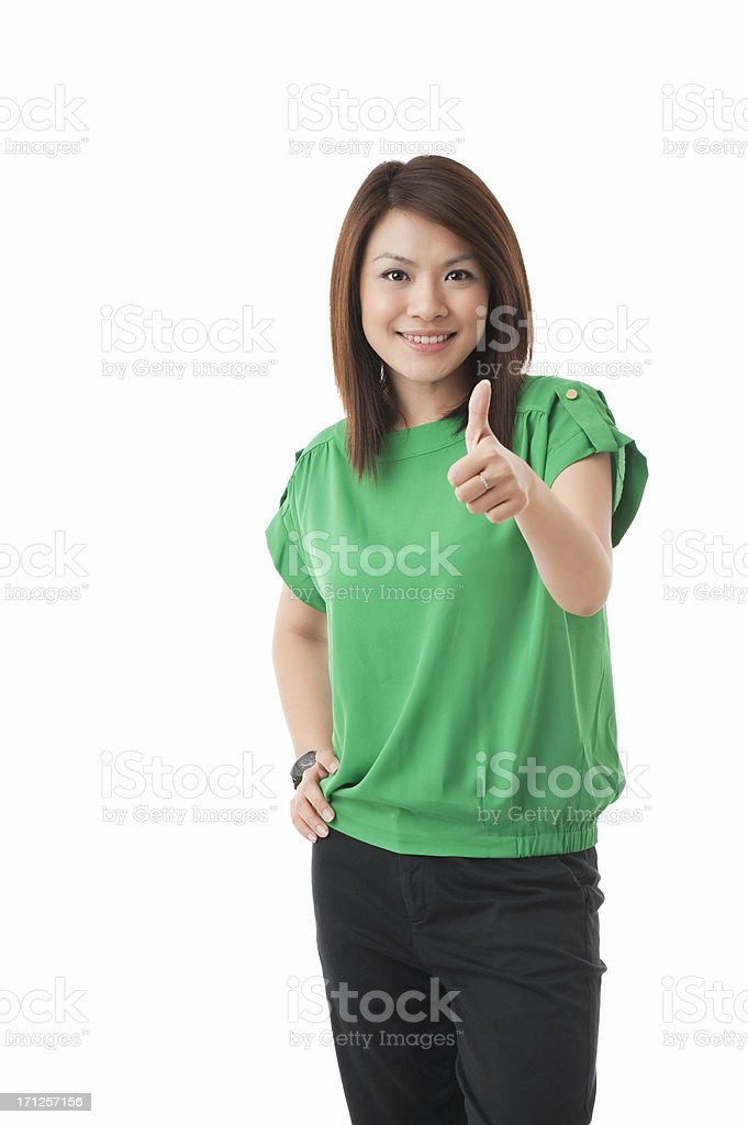 Young attractive Asian Chinese woman stock photo
