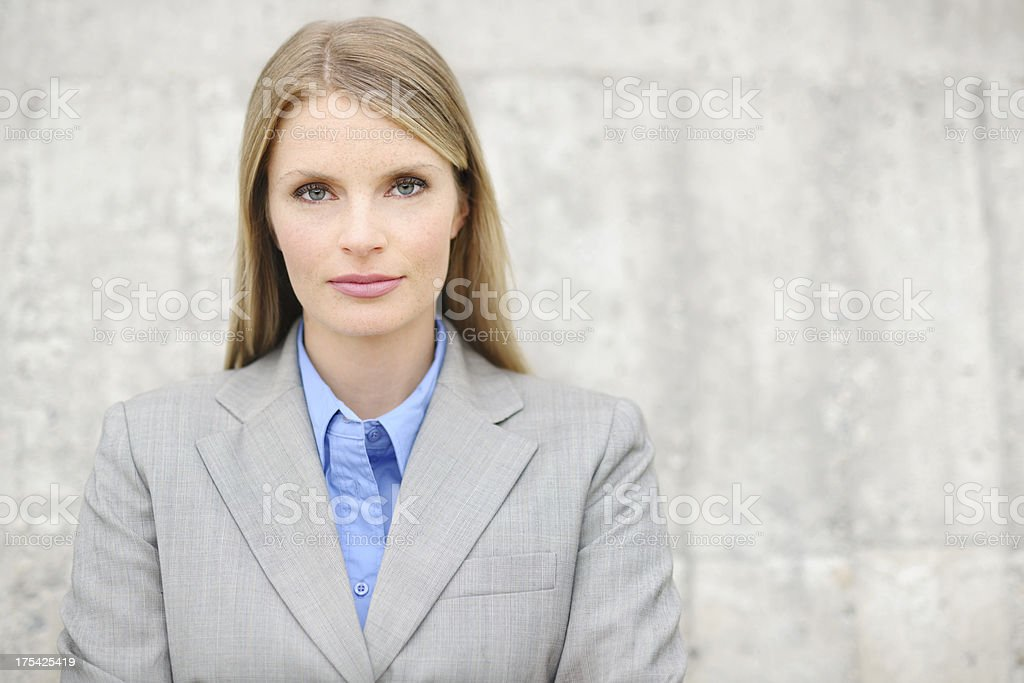 Young Attractive Business Woman Outside stock photo