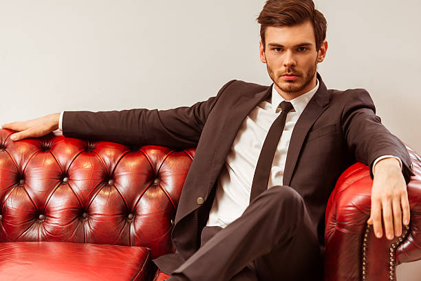 young attractive businessman - menswear stock photos and pictures