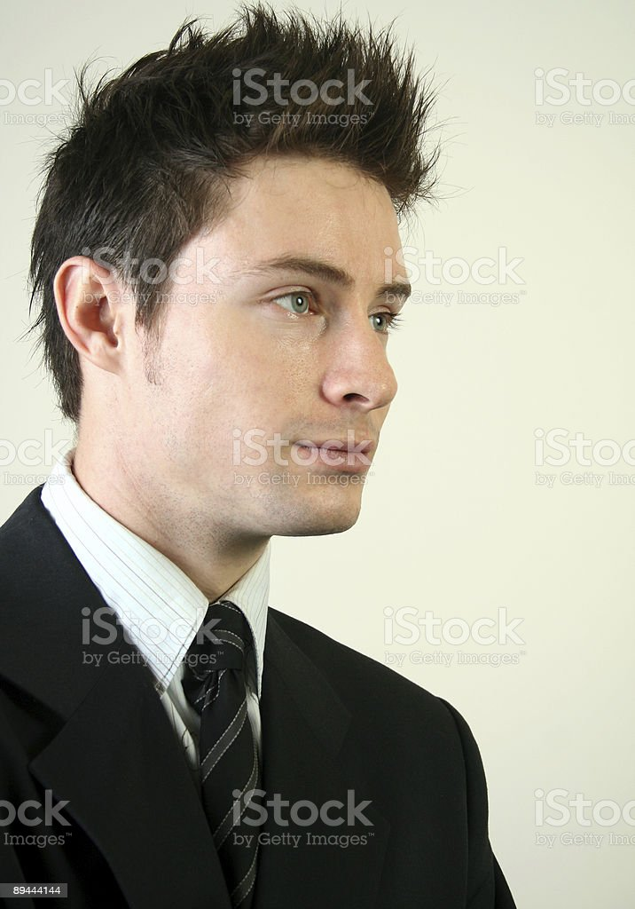 Young attractive businessman (series) royalty-free stock photo