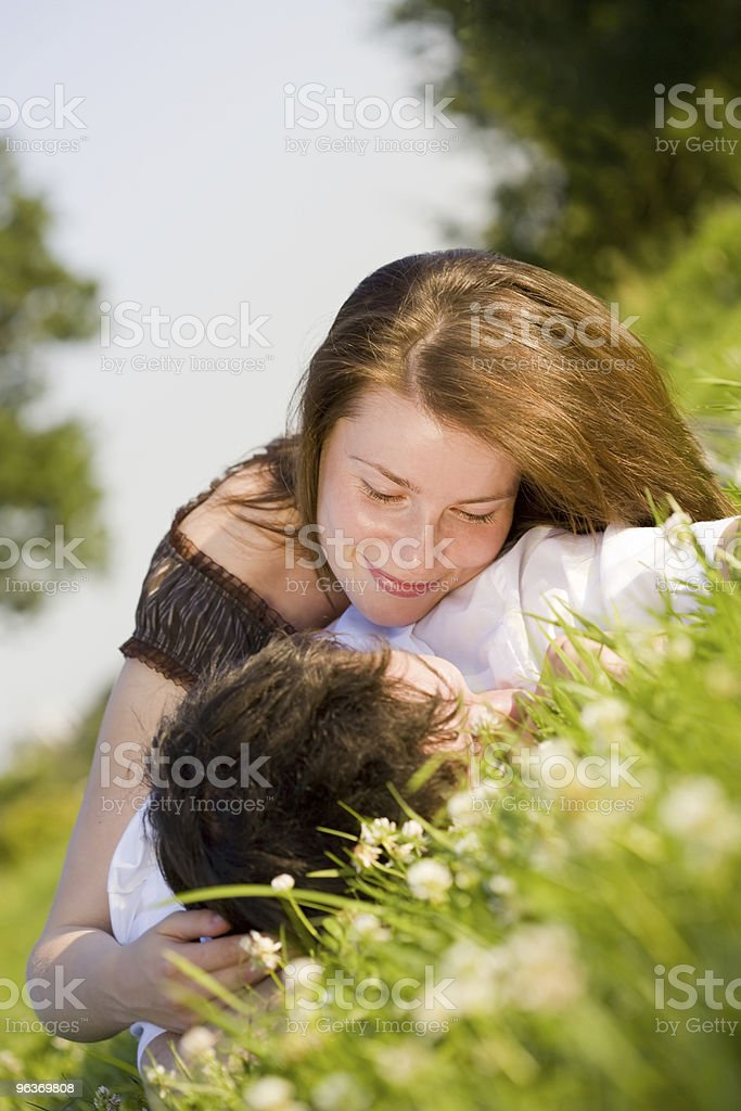 young attractive couple royalty-free stock photo