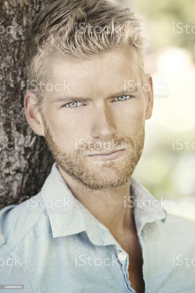 Young attractive guy stock photo