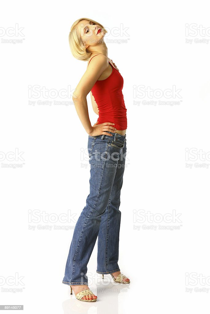 Young attractive happy woman stock photo