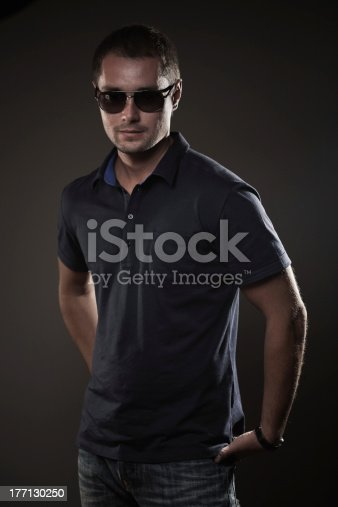 542972720 istock photo Young attractive man with sunglasses 177130250