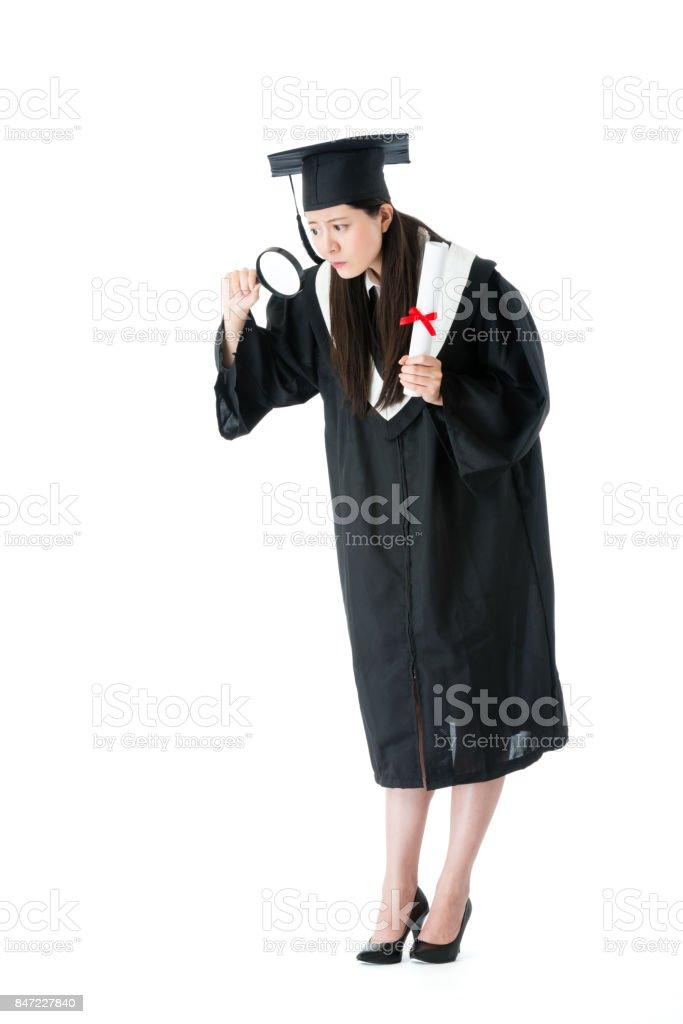 pós-graduação de Universidade atraente jovem feminino - foto de acervo
