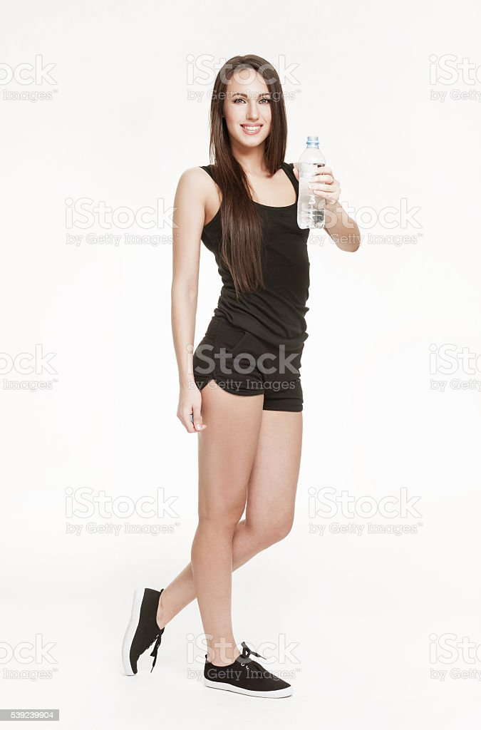 Young attractive woman at the gym royalty-free stock photo