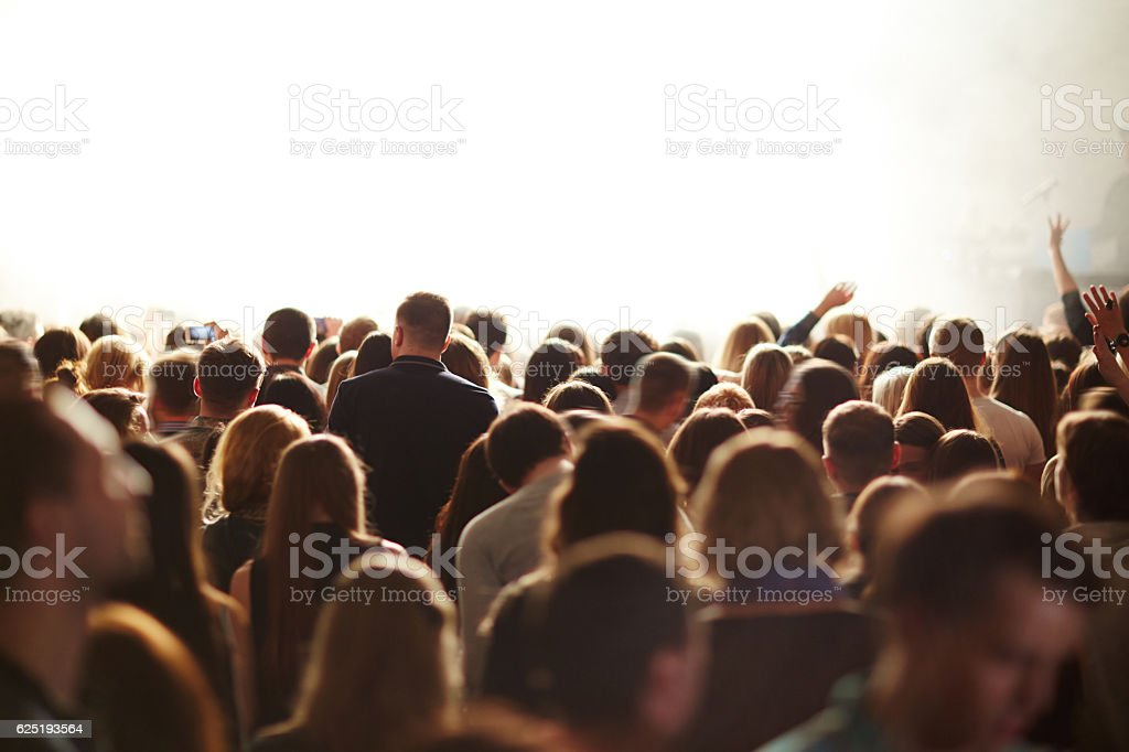 Young audience stock photo