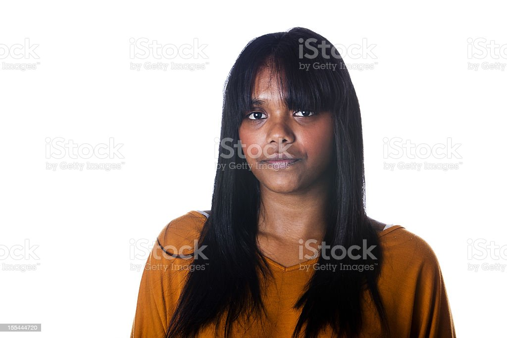 Young Australian Aboriginal Woman stock photo