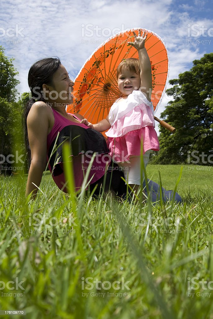 Young baby girl with her mother royalty-free stock photo