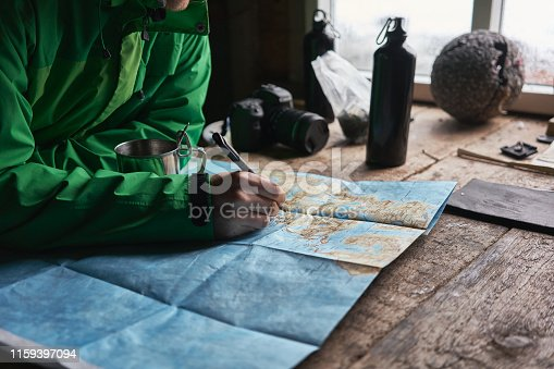 Image was taken in the Stokvikka cabin near Fredvang.