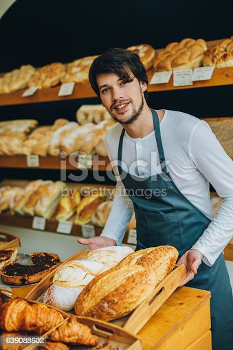 istock Young baker 639088602