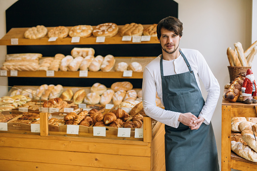 istock Young baker 639088700