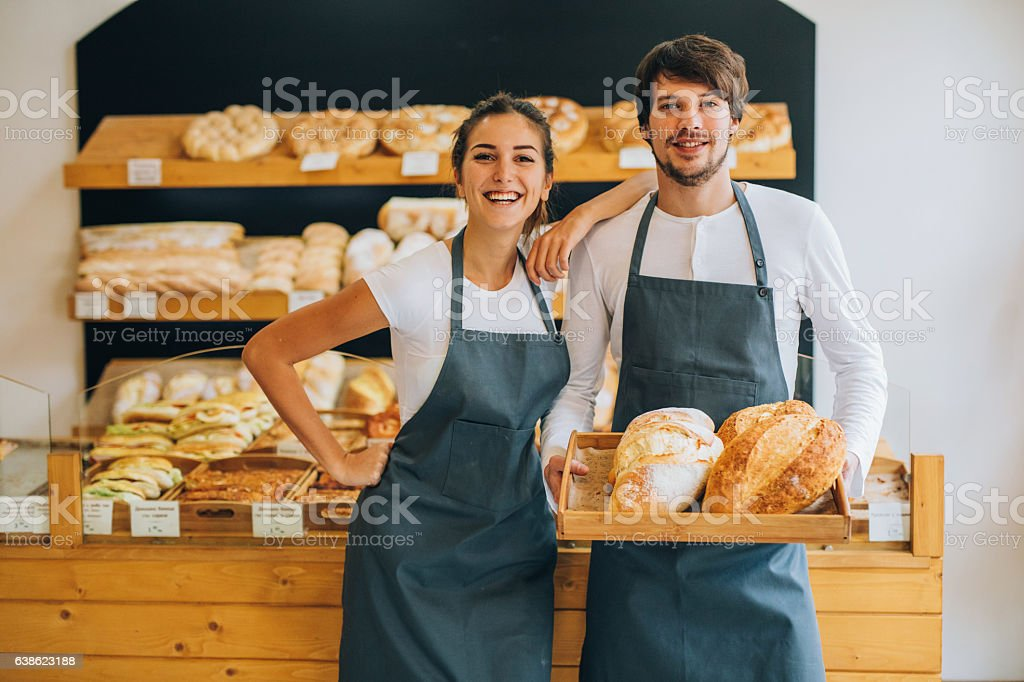 Young bakers stock photo