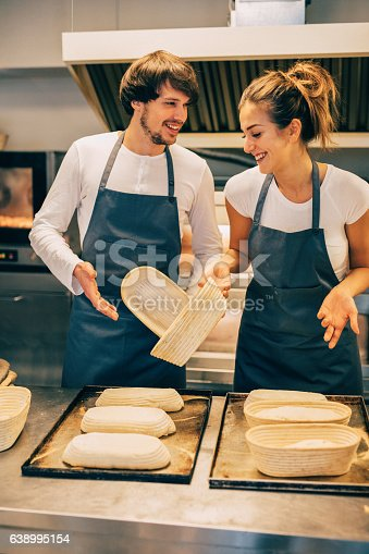 628876250 istock photo Young bakers running out of dough 638995154