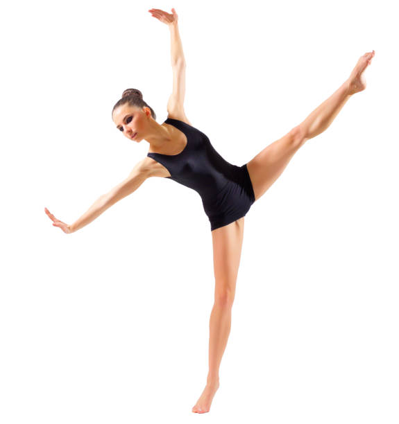 young ballerina isolated - leotard stock pictures, royalty-free photos & images