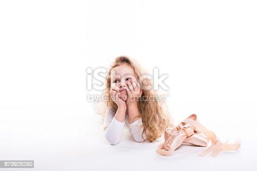 istock Young ballerina Isolated. 873925250