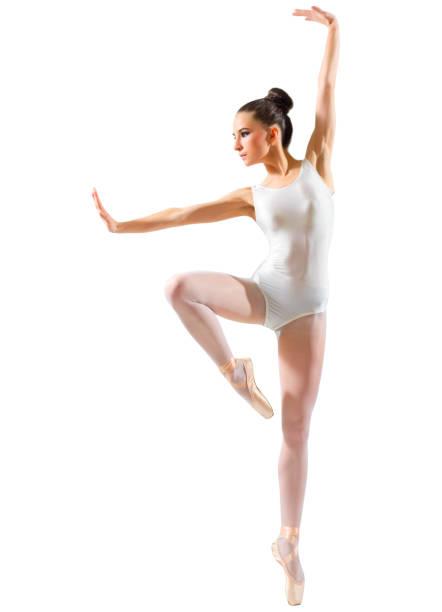Young ballerina isolated stock photo