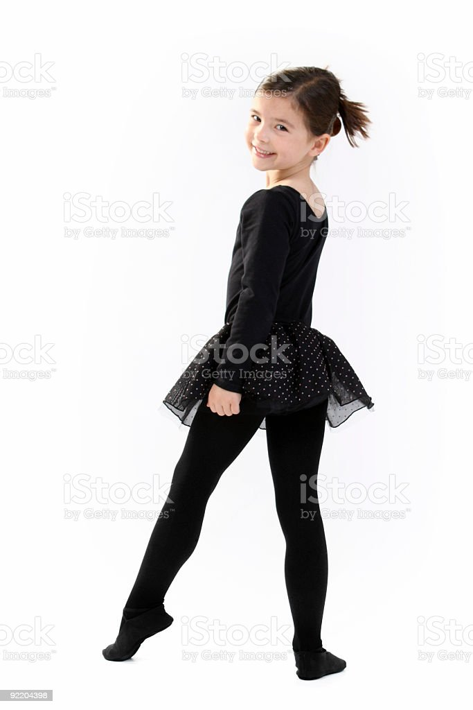 Young Ballet dancer looking at the camera royalty-free stock photo