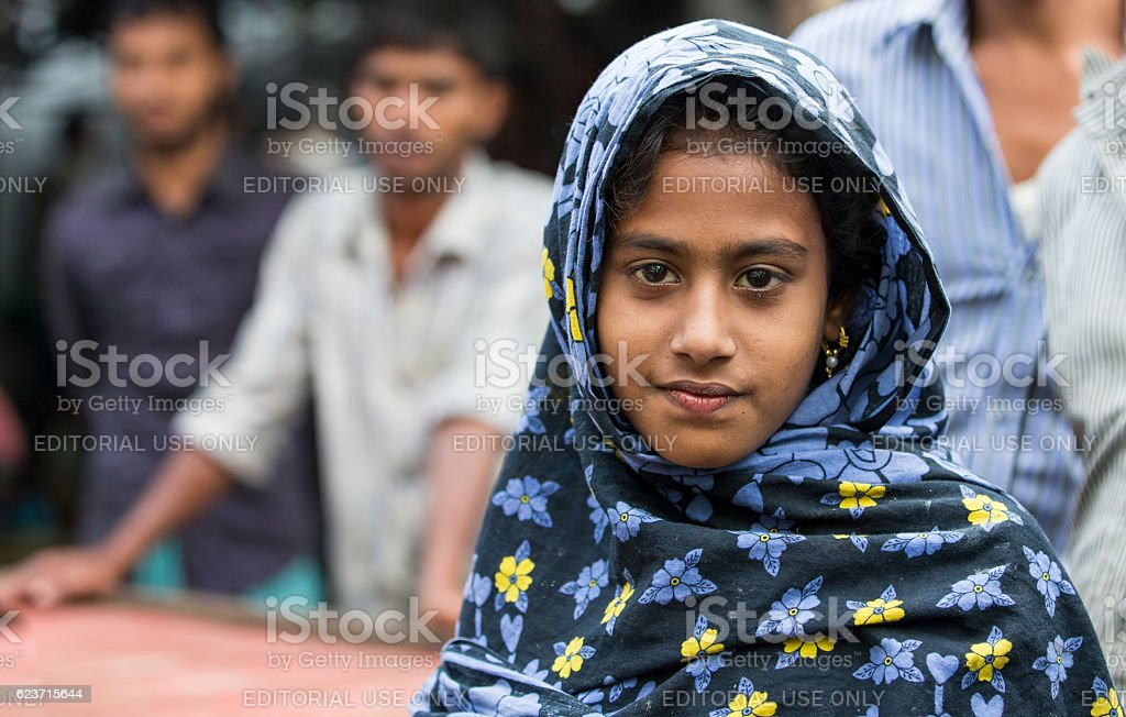 Young Bangladeshi girl in Chittagong 스톡 사진
