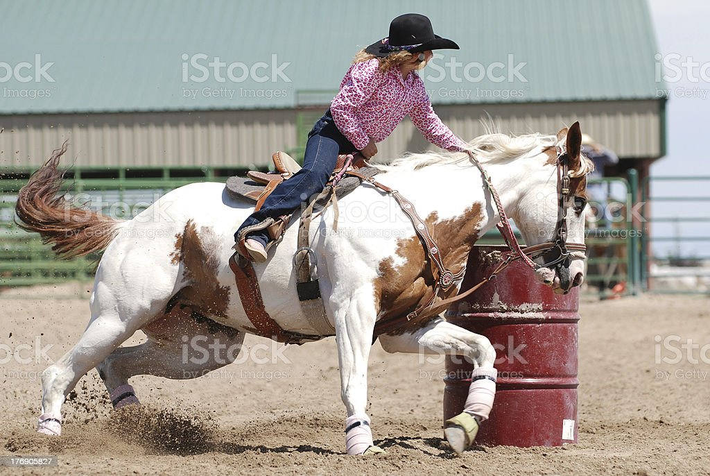 Young Barrel Racer stock photo