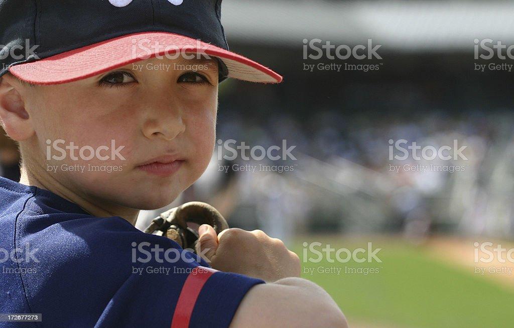 Young baseball fan royalty-free stock photo