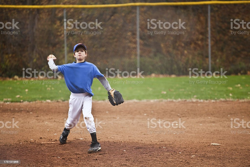 Young Baseball Pitcher stock photo