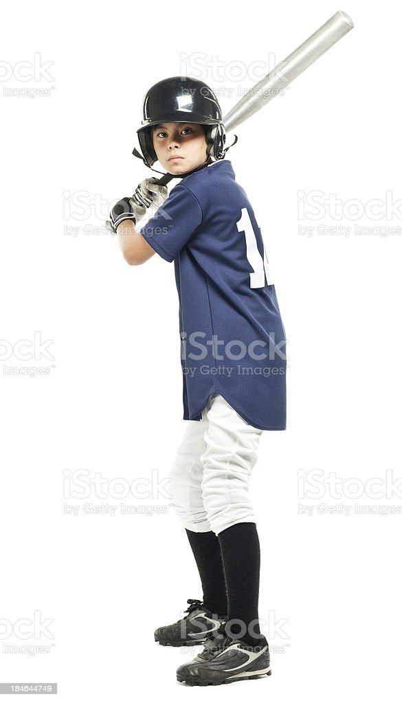 Young Baseball Player - Isolated royalty-free stock photo