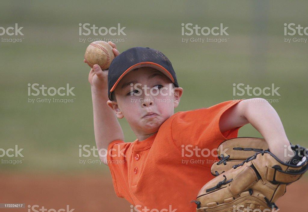 Young Baseball Player royalty-free stock photo
