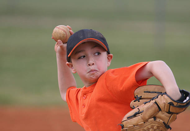 Young Baseball Player stock photo