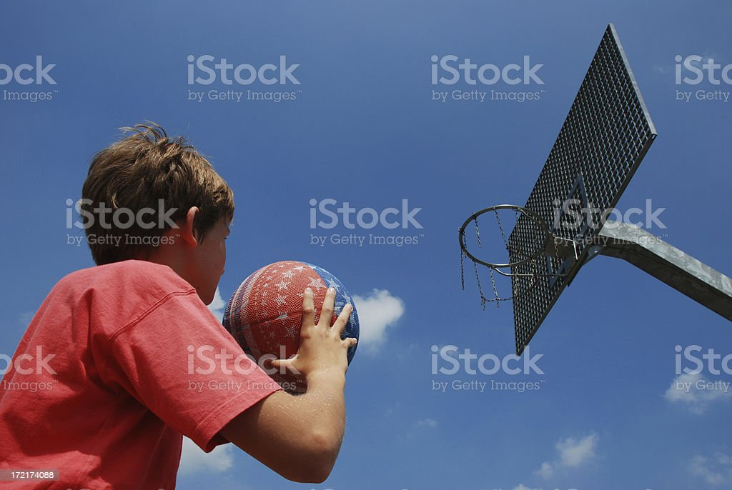 Young basketball player royalty-free stock photo