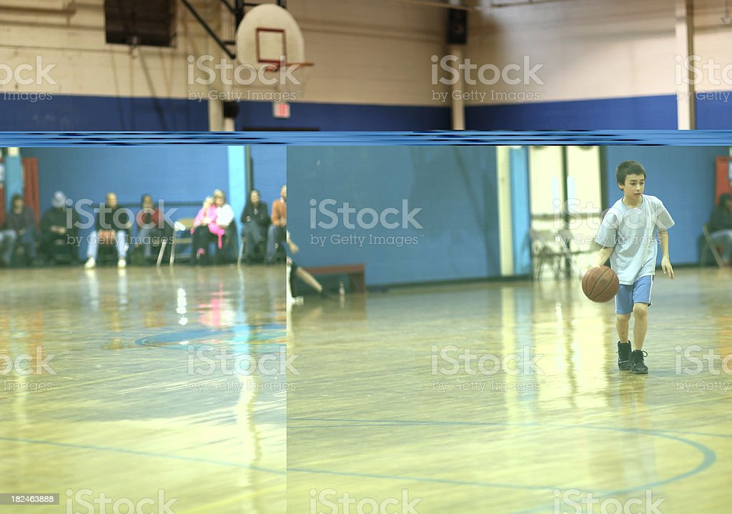 Young basketball player stock photo