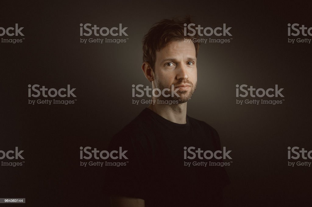 Retrato de homem de barba Young - Foto de stock de 30 Anos royalty-free