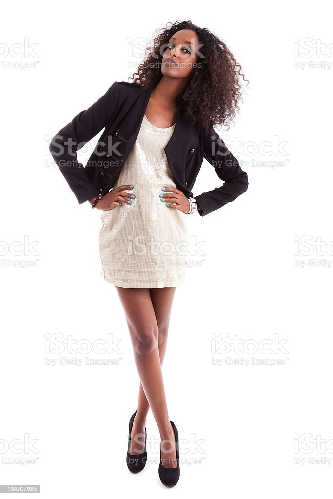 Young beautiful African American woman stock photo