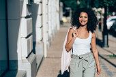 istock Young beautiful afro-american woman 1012175776