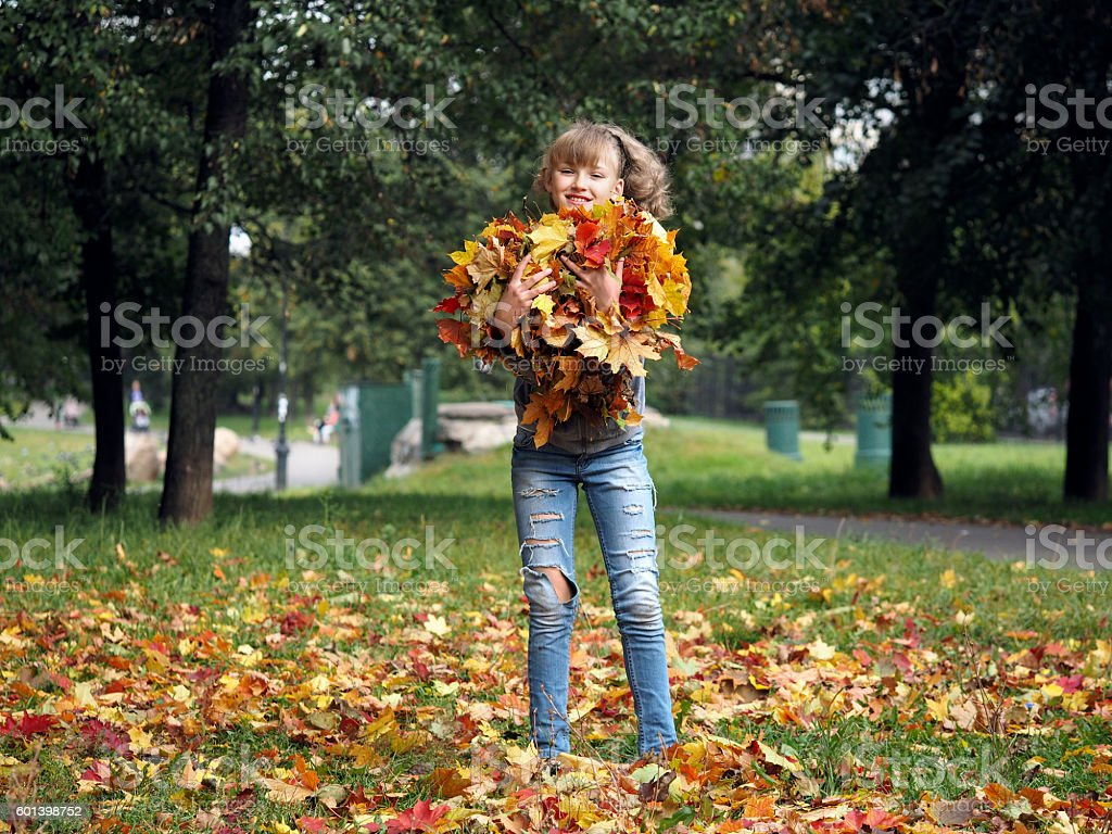 Young beautiful and very happy girl stock photo