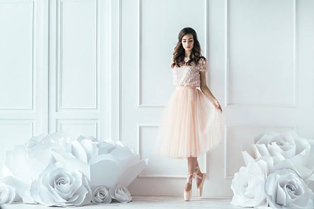 Young beautiful ballerina stock photo
