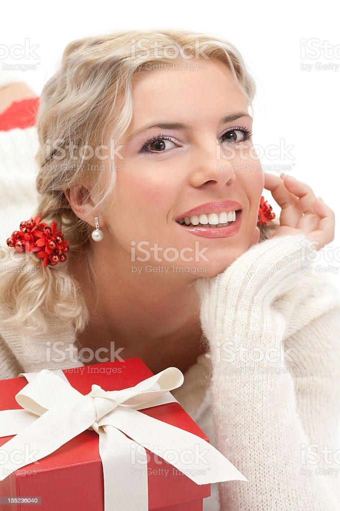 Young beautiful blond woman royalty-free stock photo
