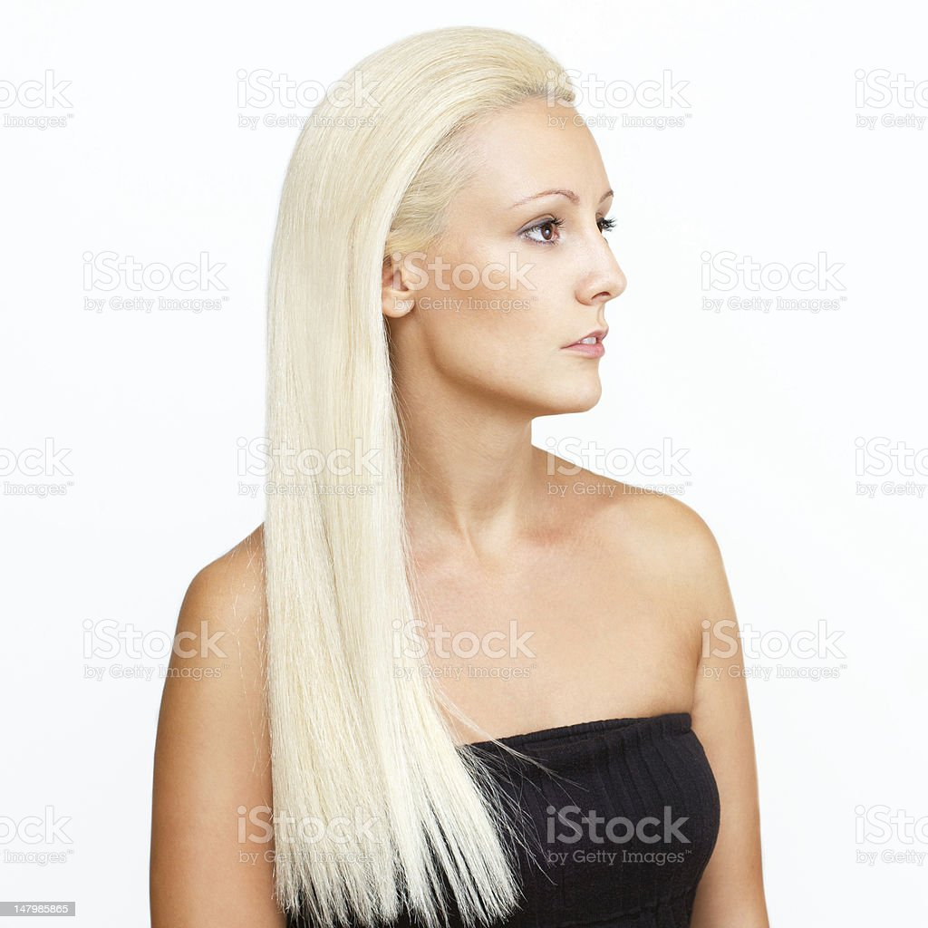 Young Beautiful Blonde With Straight Hair royalty-free stock photo