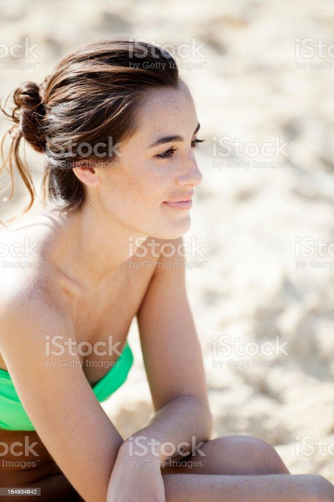Young beautiful brazilian woman smiling  outdoors royalty-free stock photo