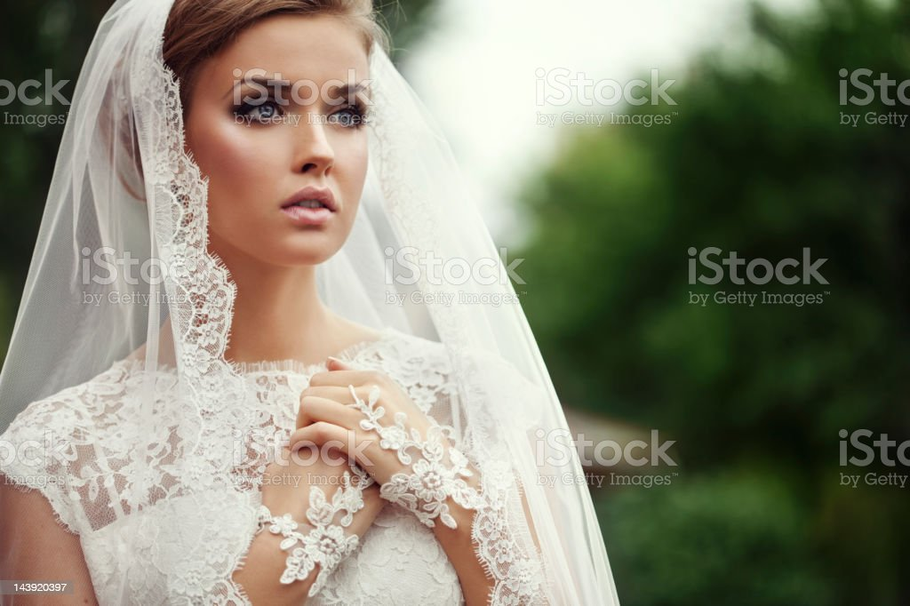 Young Beautiful bride stock photo