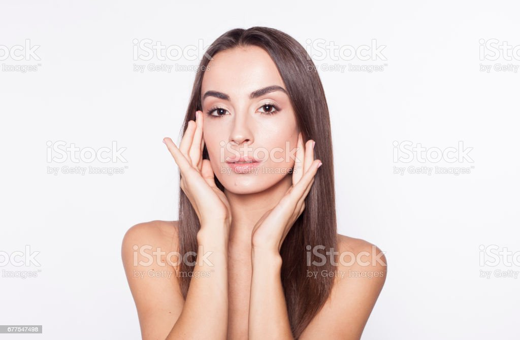 Young beautiful brunette woman. royalty-free stock photo