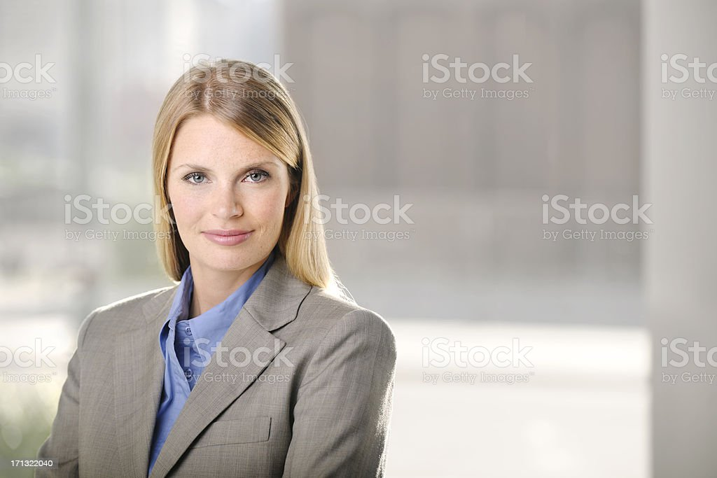 Young beautiful business woman royalty-free stock photo