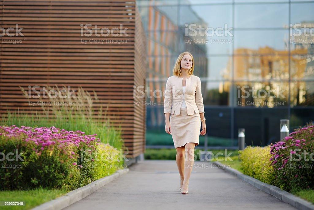 Young beautiful business woman stock photo