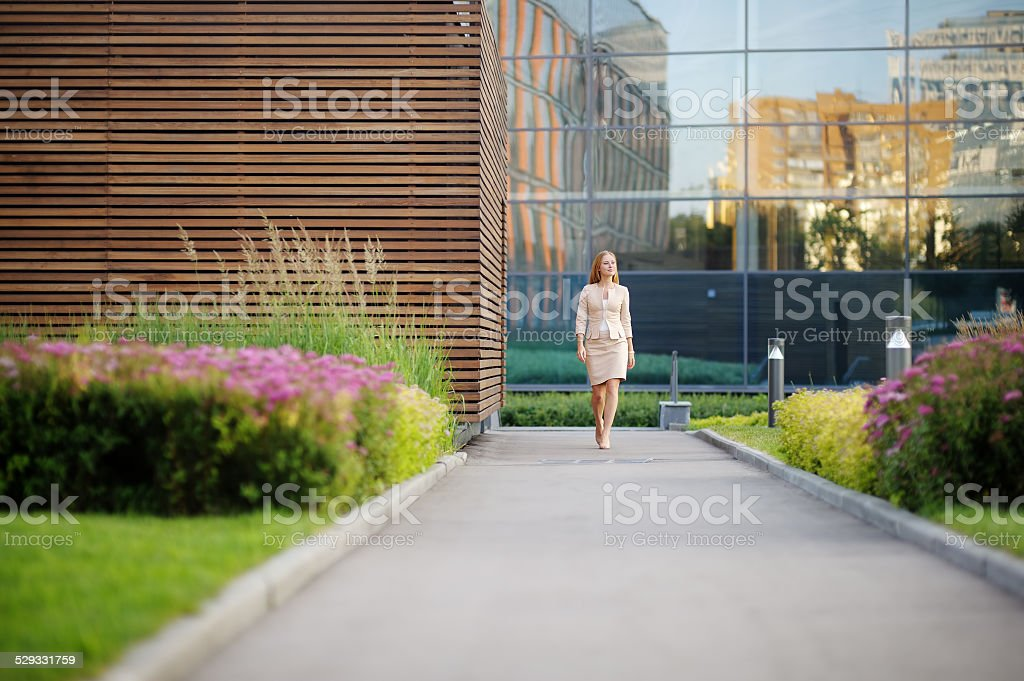 Young beautiful business woman stock photo