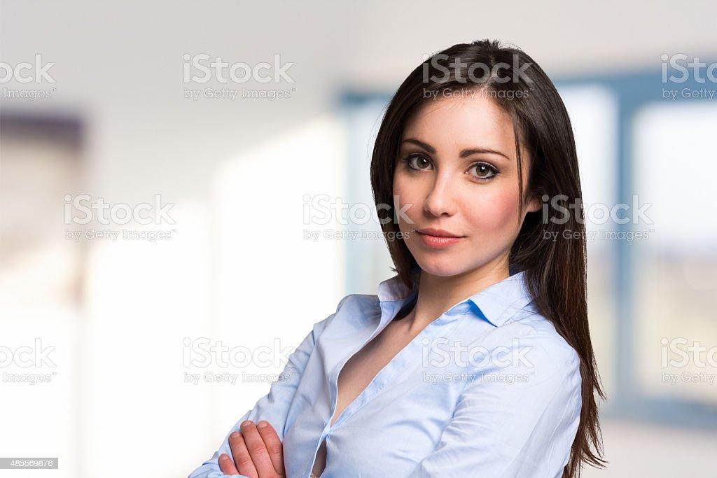 Young beautiful businesswoman portrait stock photo