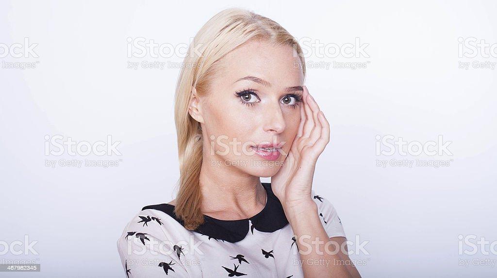 Young beautiful Caucasian blond woman royalty-free stock photo