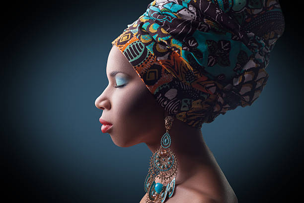 young beautiful fashion model with traditional african style - african culture stock photos and pictures