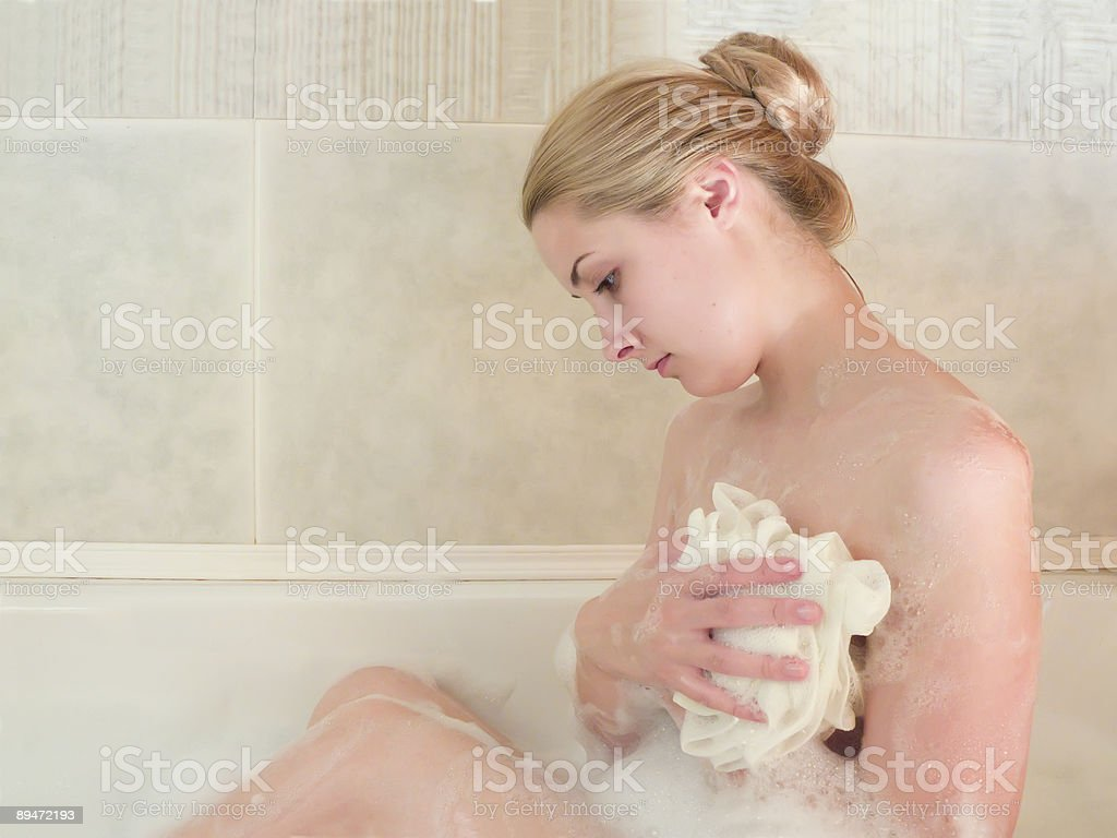 young beautiful girl in a bath royalty-free stock photo